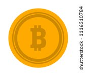 bitcoin illustration isolated ... | Shutterstock .eps vector #1116310784