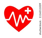 heart icon with add sign ... | Shutterstock .eps vector #1116311039