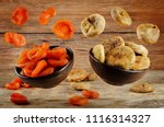 variation of dried fruits ... | Shutterstock . vector #1116314327