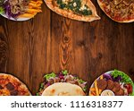 top down view on traditional... | Shutterstock . vector #1116318377