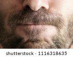 close up of man's lips   Shutterstock . vector #1116318635