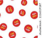 discount sticker icon seamless... | Shutterstock .eps vector #1116319187