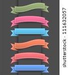 ribbon banner | Shutterstock . vector #111632057