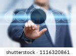 businessman pressing button.... | Shutterstock . vector #1116320861