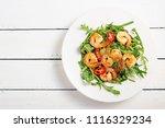 Arugula Salad With Prawn Shrim...