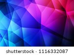 dark blue  red vector polygon... | Shutterstock .eps vector #1116332087