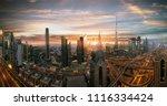 dubai sunset panoramic view of... | Shutterstock . vector #1116334424
