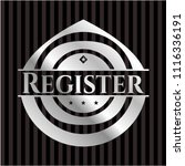 register silver emblem or badge | Shutterstock .eps vector #1116336191