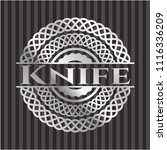 knife silver badge or emblem | Shutterstock .eps vector #1116336209