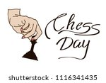 international chess day...   Shutterstock .eps vector #1116341435