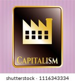 golden emblem or badge with...   Shutterstock .eps vector #1116343334