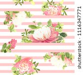 seamless striped style floral...   Shutterstock .eps vector #1116347771