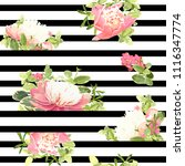 seamless striped style floral...   Shutterstock .eps vector #1116347774