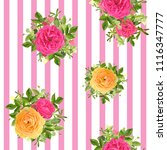 seamless striped style floral... | Shutterstock .eps vector #1116347777