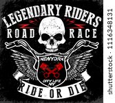 motorcycle t shirt graphic... | Shutterstock . vector #1116348131