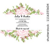 flowers card invitation | Shutterstock .eps vector #1116355604