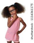 cute african american small... | Shutterstock . vector #1116361175