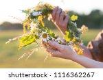 midsummer in latvia ... | Shutterstock . vector #1116362267