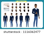 standing young black american... | Shutterstock .eps vector #1116362477