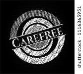 carefree chalk emblem written... | Shutterstock .eps vector #1116365951