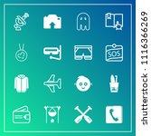 modern  simple vector icon set... | Shutterstock .eps vector #1116366269