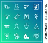 modern  simple vector icon set...   Shutterstock .eps vector #1116366707