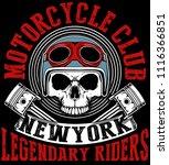 tee skull motorcycle graphic... | Shutterstock . vector #1116366851