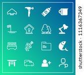 modern  simple vector icon set... | Shutterstock .eps vector #1116367349