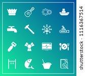 modern  simple vector icon set... | Shutterstock .eps vector #1116367514