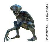 hammerhead alien exploring...   Shutterstock . vector #1116369551
