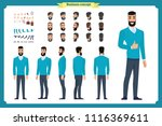 business casual fashion. front  ... | Shutterstock .eps vector #1116369611