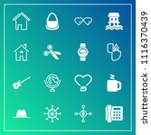 modern  simple vector icon set... | Shutterstock .eps vector #1116370439