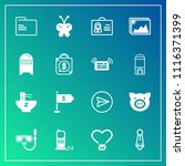 modern  simple vector icon set... | Shutterstock .eps vector #1116371399