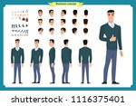 standing young businessman.... | Shutterstock .eps vector #1116375401