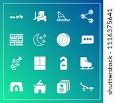 modern  simple vector icon set... | Shutterstock .eps vector #1116375641