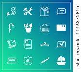 modern  simple vector icon set... | Shutterstock .eps vector #1116375815