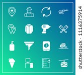 modern  simple vector icon set... | Shutterstock .eps vector #1116375914