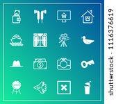 modern  simple vector icon set... | Shutterstock .eps vector #1116376619