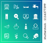modern  simple vector icon set... | Shutterstock .eps vector #1116377399