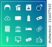 modern  simple vector icon set... | Shutterstock .eps vector #1116377615