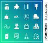 modern  simple vector icon set... | Shutterstock .eps vector #1116377639