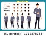 standing young businessman.... | Shutterstock .eps vector #1116378155