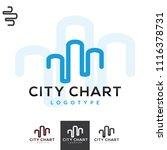 vector city landscape bar line... | Shutterstock .eps vector #1116378731