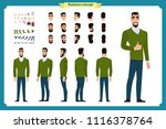 standing young businessman.... | Shutterstock .eps vector #1116378764