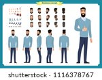 standing young businessman.... | Shutterstock .eps vector #1116378767