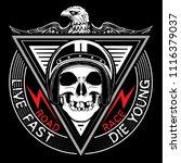 skull t shirt graphic design... | Shutterstock . vector #1116379037