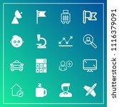 modern  simple vector icon set... | Shutterstock .eps vector #1116379091