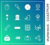 modern  simple vector icon set... | Shutterstock .eps vector #1116379199