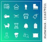 modern  simple vector icon set... | Shutterstock .eps vector #1116379211