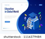 isometric education in global... | Shutterstock .eps vector #1116379484